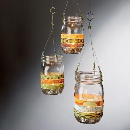 Barattoli lanterne appese