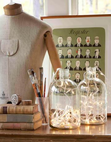 Barattoli illuminanti con strisce di lampadine