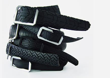 Cinture con pneumatici da bici